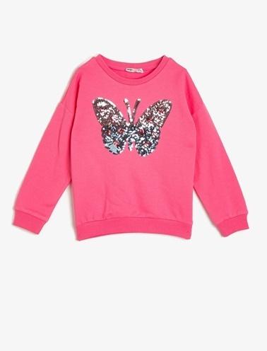 Koton Kids Pul Detayli Sweatshirt Pembe